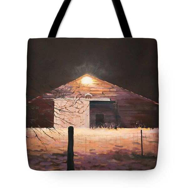 Nocturnal Barn Tote Bag by Rebecca Matthews