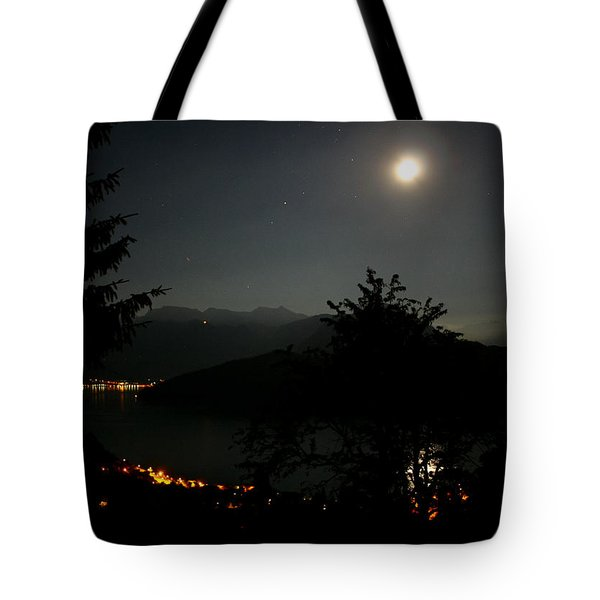Nocturne In Switzerland Tote Bag
