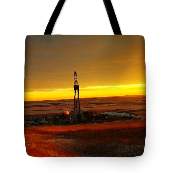 Nomac Drilling Keene North Dakota Tote Bag by Jeff Swan