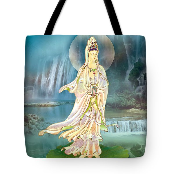 Tote Bag featuring the photograph Non-dual Kuan Yin by Lanjee Chee