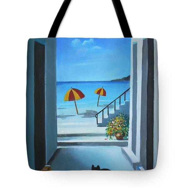 Noon At The Beach Tote Bag by S G