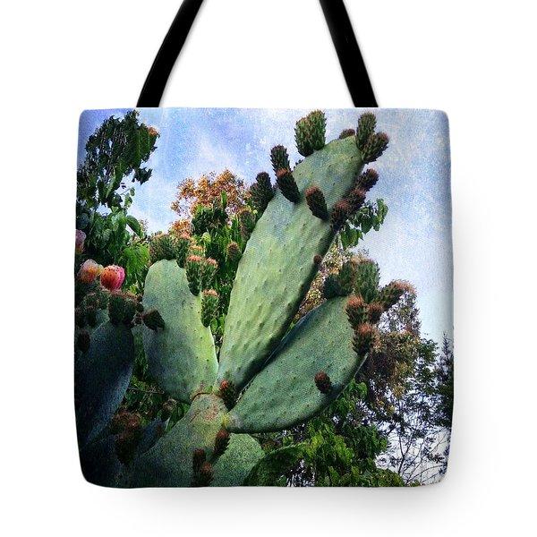 Nopales Cactus Tote Bag