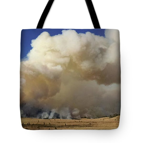 Norbeck Prescribed Fire Smoke Column Tote Bag