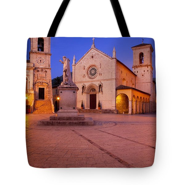 Norcia Umbria Tote Bag by Brian Jannsen