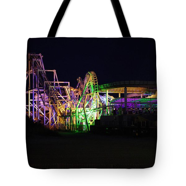 Tote Bag featuring the photograph Nor'easter At Night by Greg Graham