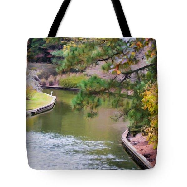 Norfolk Botanical Gardens Canal 7 Tote Bag by Lanjee Chee