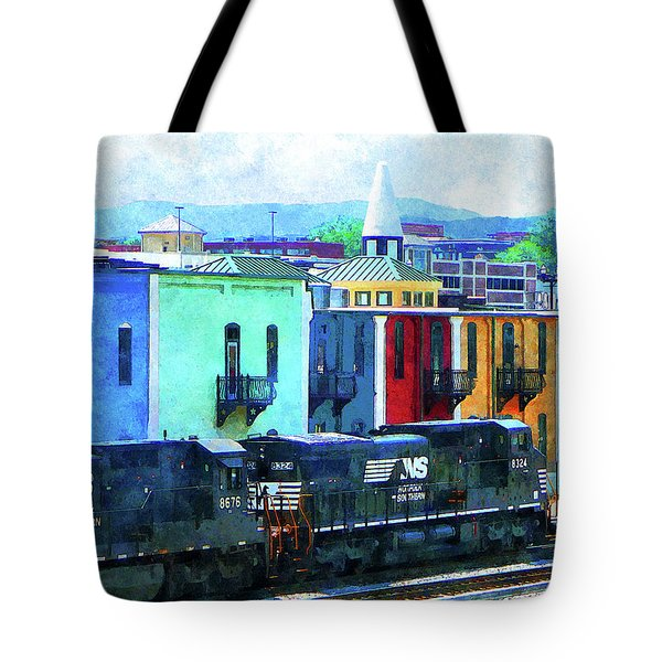 Norfolk Southern 8324 And 8676 Locomotives Tote Bag by Susan Savad