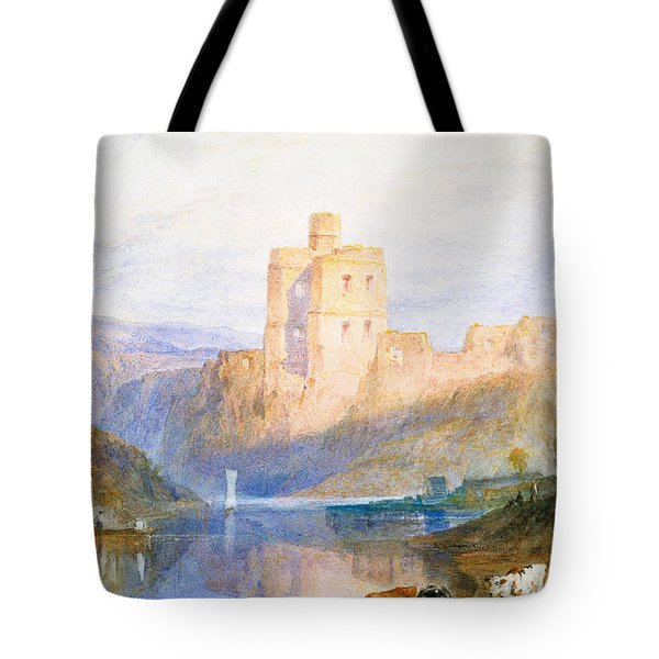 Norham Castle An Illustration To Marmion By Sir Walter Scott Tote Bag by Joseph Mallord William Turner