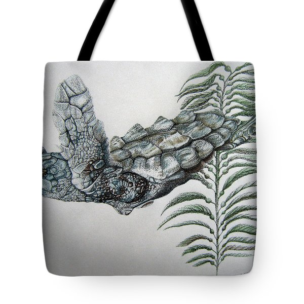 Tote Bag featuring the drawing Norman Blue by Mayhem Mediums