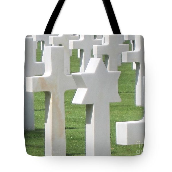 Tote Bag featuring the photograph Normandy American Cemetery by HEVi FineArt