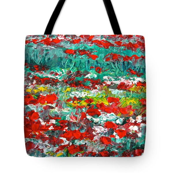 Normandy Poppy Field Dreams I Tote Bag