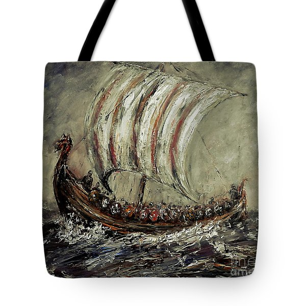Norse Explorers Tote Bag by Arturas Slapsys