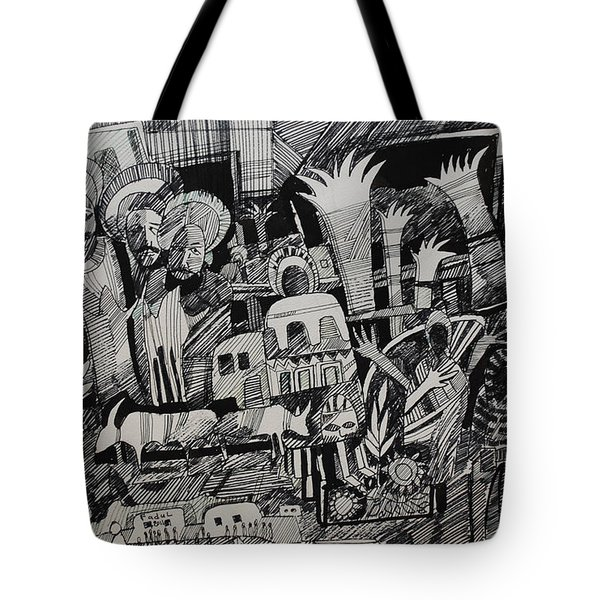 North And South Tote Bag by Mohamed Fadul