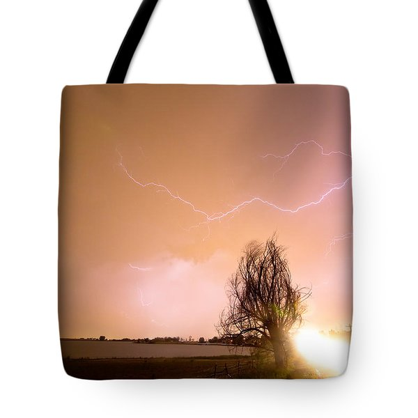 North Boulder County Colorado Lightning Strike Tote Bag by James BO  Insogna