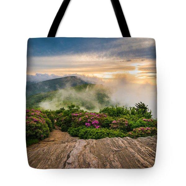 North Carolina Appalachian Trail Spring Blue Ridge Mountains Tote Bag