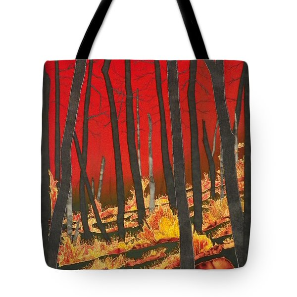 North Carolina Forests Under Fire II Tote Bag by Jenny Williams