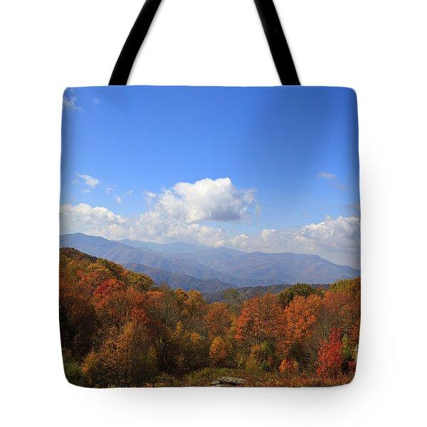 North Carolina Mountains In The Fall Tote Bag