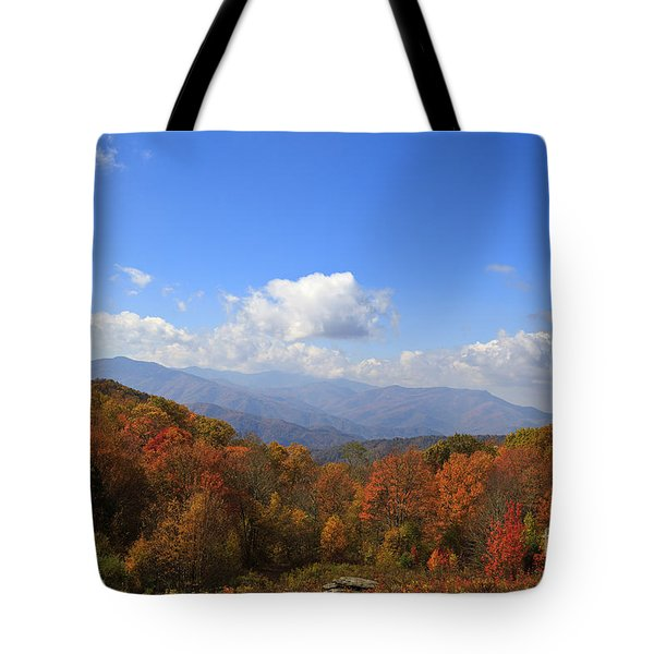 North Carolina Mountains In The Fall Tote Bag