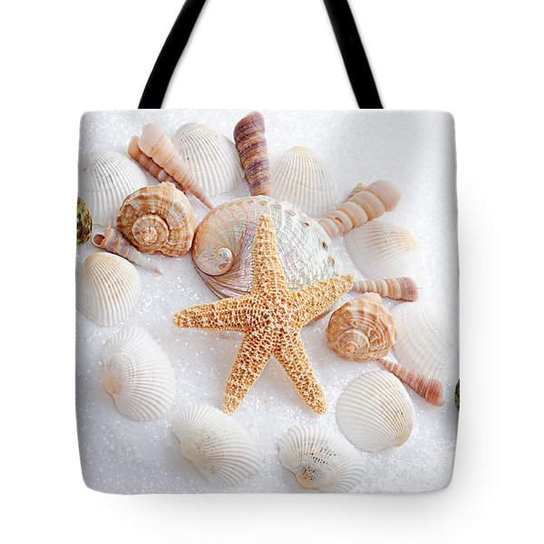 North Carolina Sea Shells Tote Bag by Andee Design