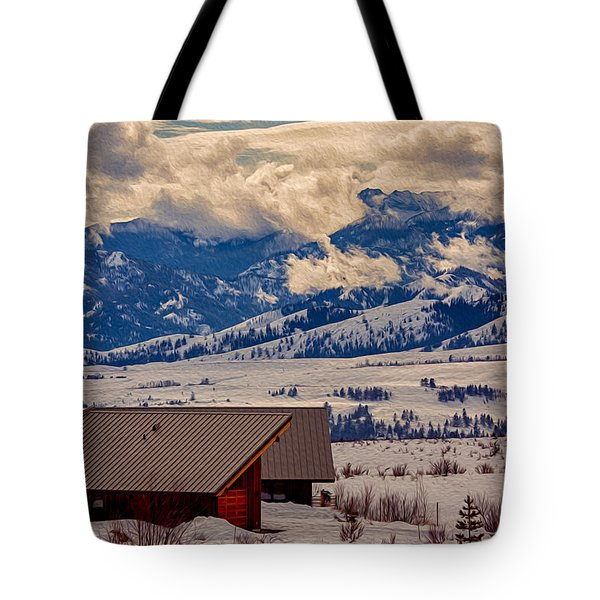 North Cascades Mountain View Tote Bag