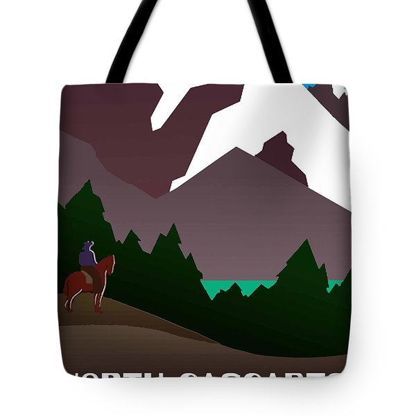 North Cascades National Park Vintage Poster Tote Bag