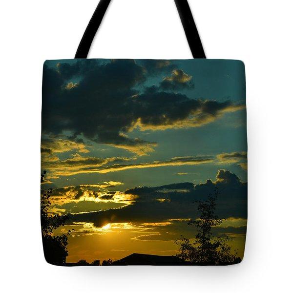 North Dakota Sunset Tote Bag