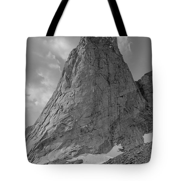 109649-bw-north Face Pingora Peak, Wind Rivers Tote Bag