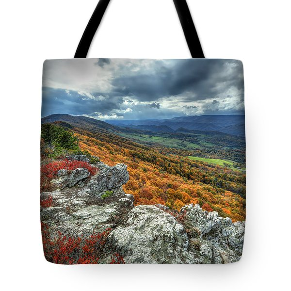 North Fork Mountain Overlook Tote Bag by Jaki Miller