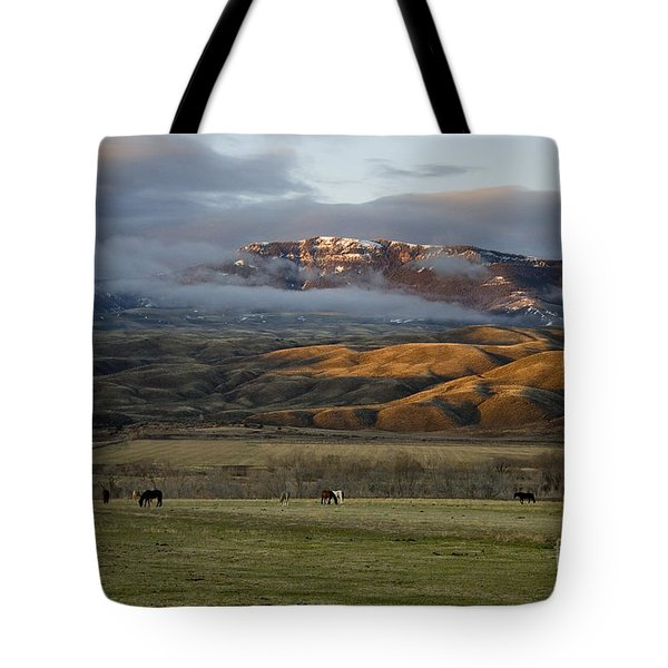 North Fork Pasture-signed Tote Bag
