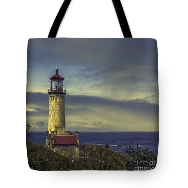 North Head Lighthouse Tote Bag by Jean OKeeffe Macro Abundance Art