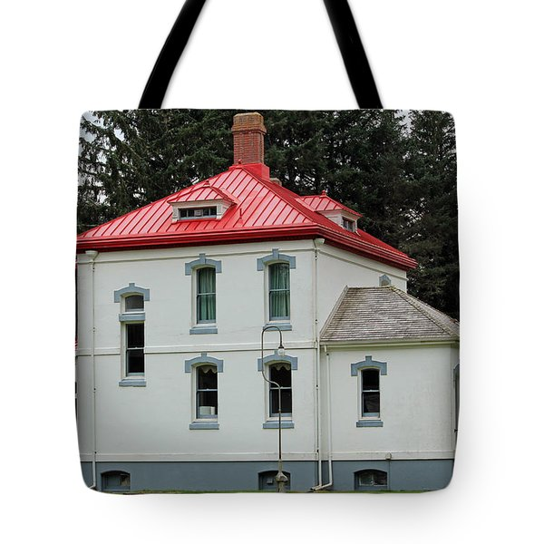 North Head Lighthouse Keepers Quarters Tote Bag by E Faithe Lester