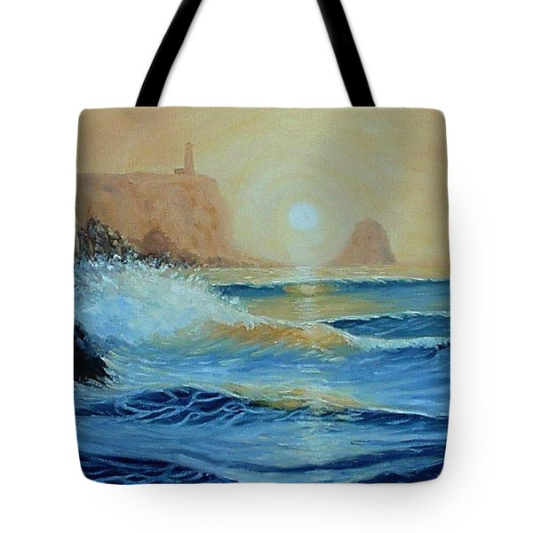 North Head Twilight Mist Tote Bag