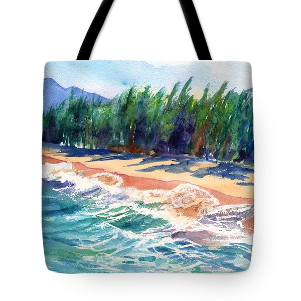 Tote Bag featuring the painting North Shore Beach 2 by Marionette Taboniar