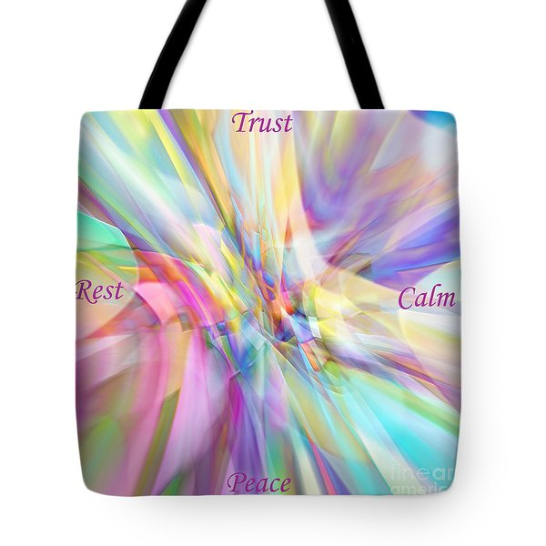 Tote Bag featuring the digital art North South East West by Margie Chapman