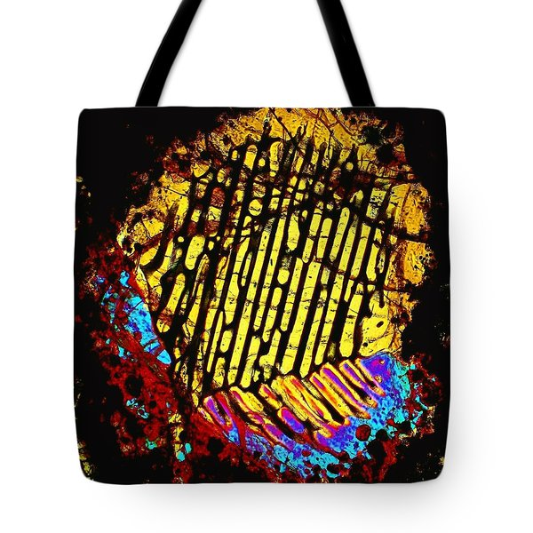 Neon Fingerprint Tote Bag