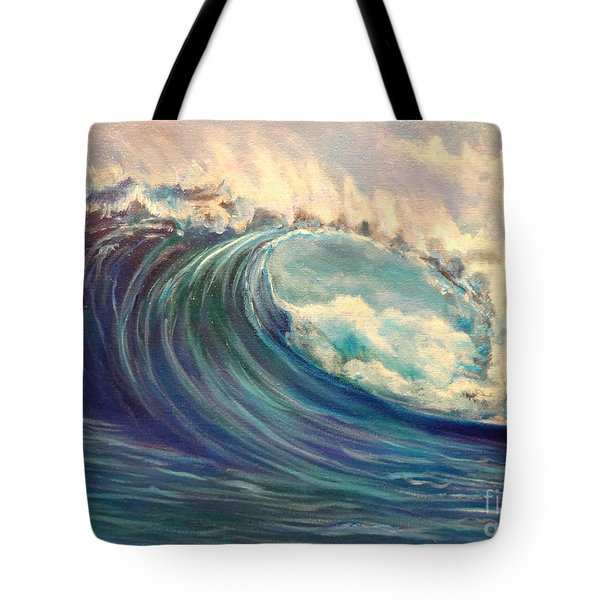Tote Bag featuring the painting North Whore Wave by Jenny Lee