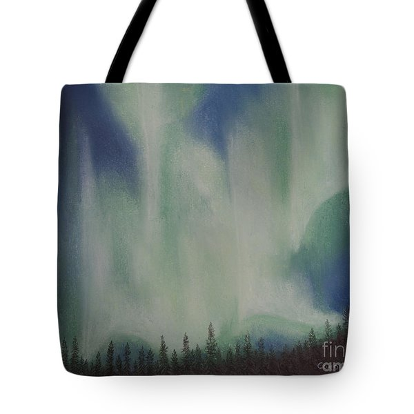 Tote Bag featuring the painting Northern Angel Bird by Stanza Widen
