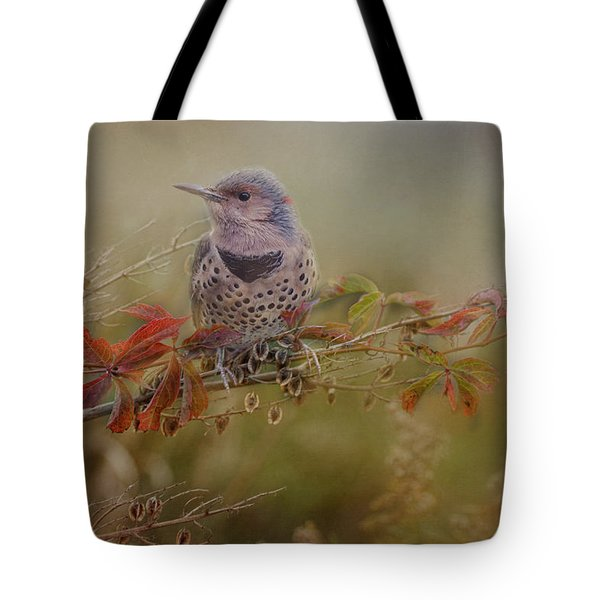 Northern Flicker In Fall Colors Tote Bag