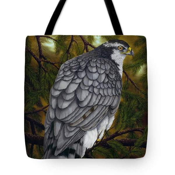 Northern Goshawk Tote Bag by Rick Bainbridge