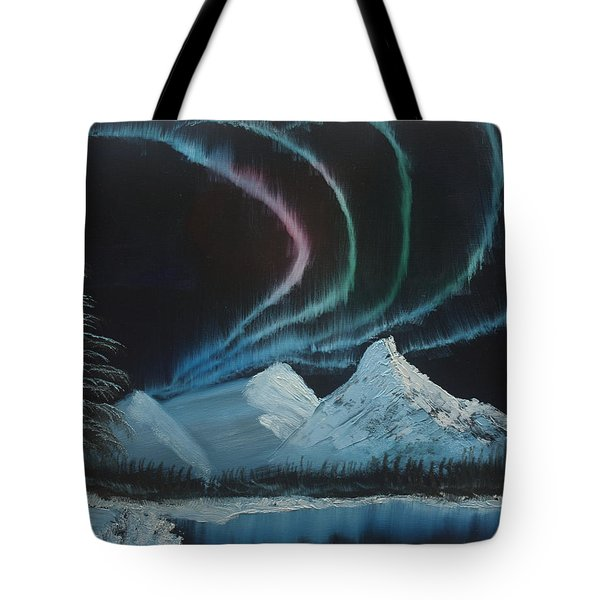Tote Bag featuring the painting Northern Lights by Ian Donley