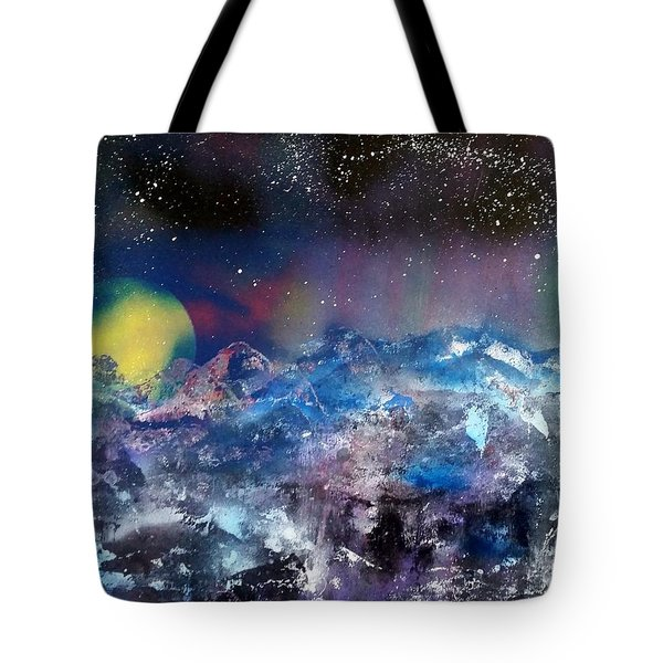 Northern Lights Reflection Tote Bag