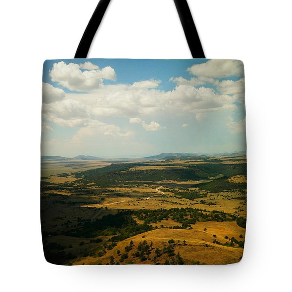 Northern New Mexico From The Capuchin Volcano Tote Bag
