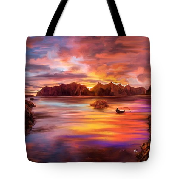 Northern Norway - Ipad Version Tote Bag by Angela A Stanton