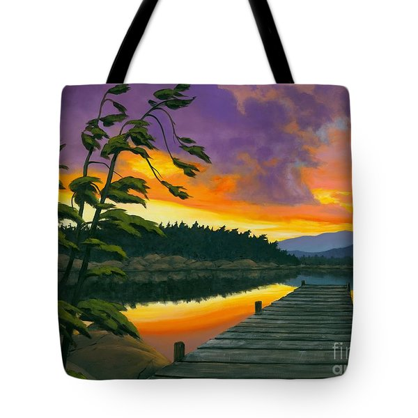 After Glow - Oil / Canvas Tote Bag by Michael Swanson