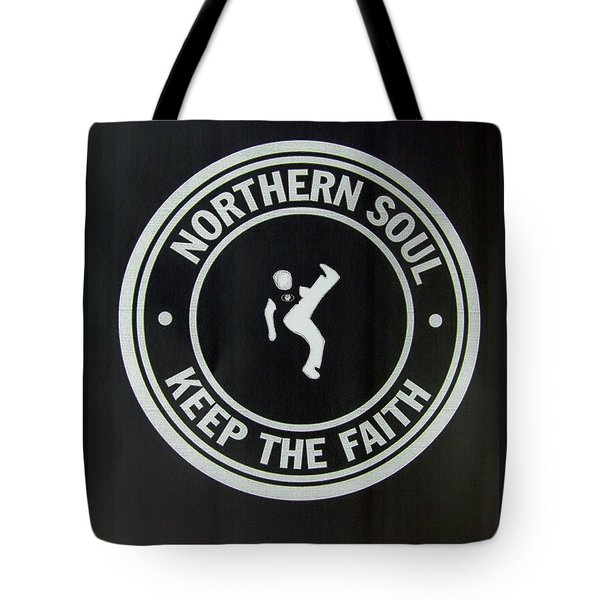 Northern Soul Dancer Inverted Tote Bag