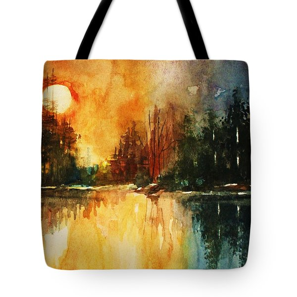 Northern Sunset Tote Bag