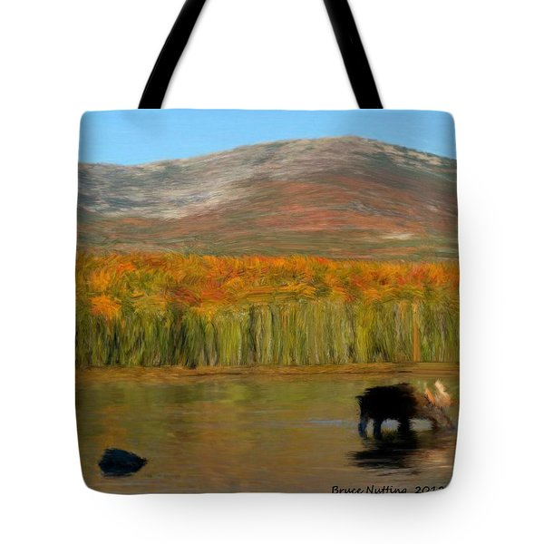 Tote Bag featuring the painting Northwest Moose by Bruce Nutting
