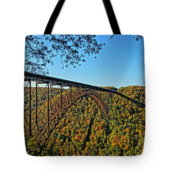 Northwest View Of Gorge Bridge Tote Bag by Timothy Connard