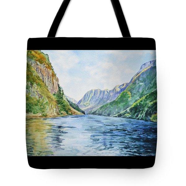 Norway Fjord Tote Bag