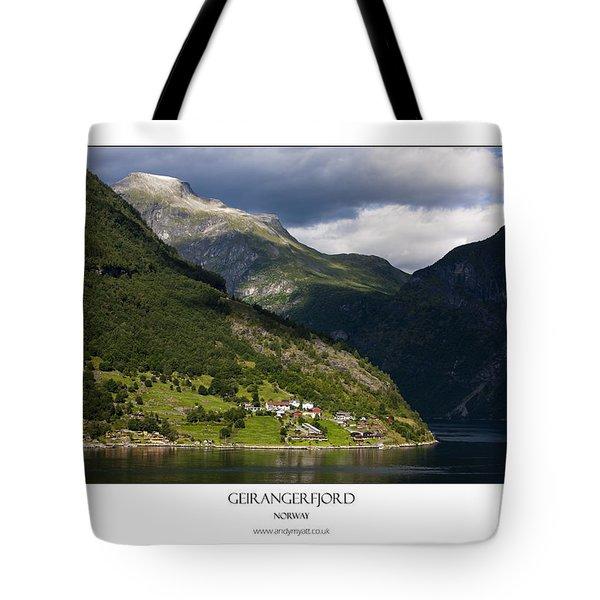 Norway Geiranger Geirangerfjord Fjord Tote Bag